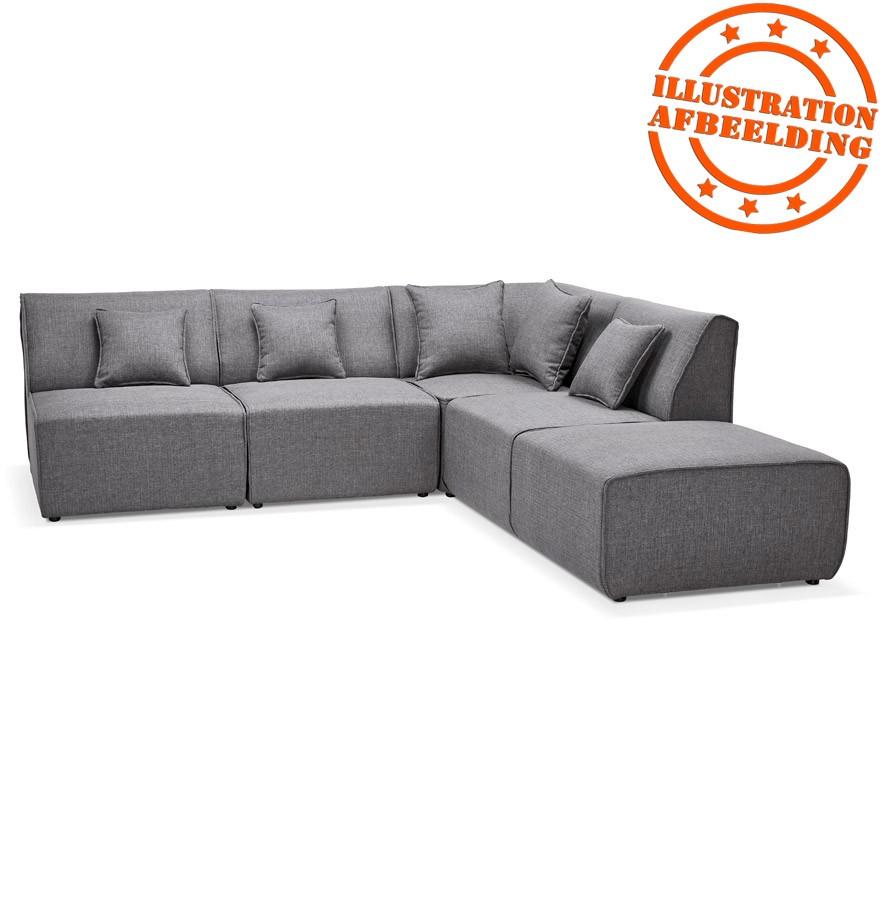 pouf de canap infinity one gris clair canap modulable. Black Bedroom Furniture Sets. Home Design Ideas