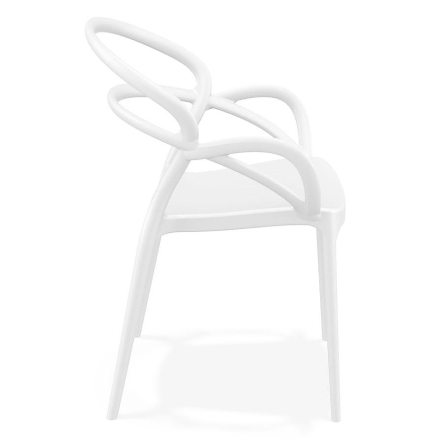 Chaise de terrasse JULIETTE design blanche Chaise de jardin