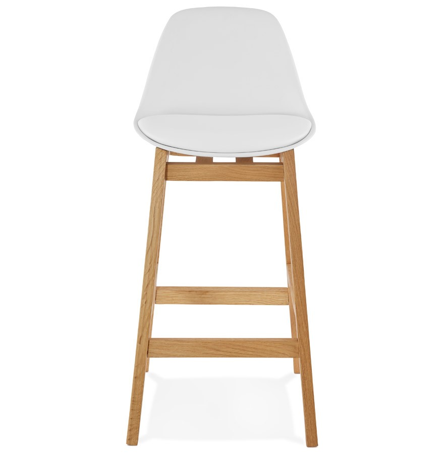 tabouret snack mi hauteur kiko mini blanc style scandinave. Black Bedroom Furniture Sets. Home Design Ideas