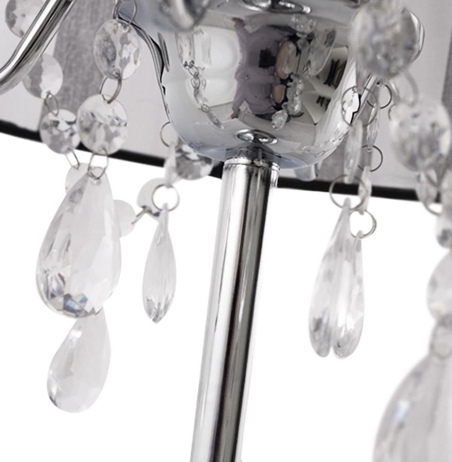 De Design Lampe Baroque Noire Pampilles Klassik Chevet À 3AjLRq54