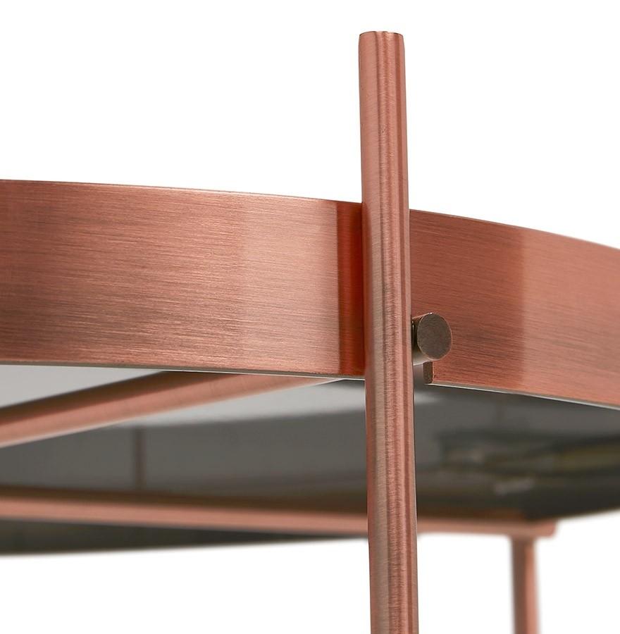 table basse kolos medium couleur cuivre table de salon. Black Bedroom Furniture Sets. Home Design Ideas