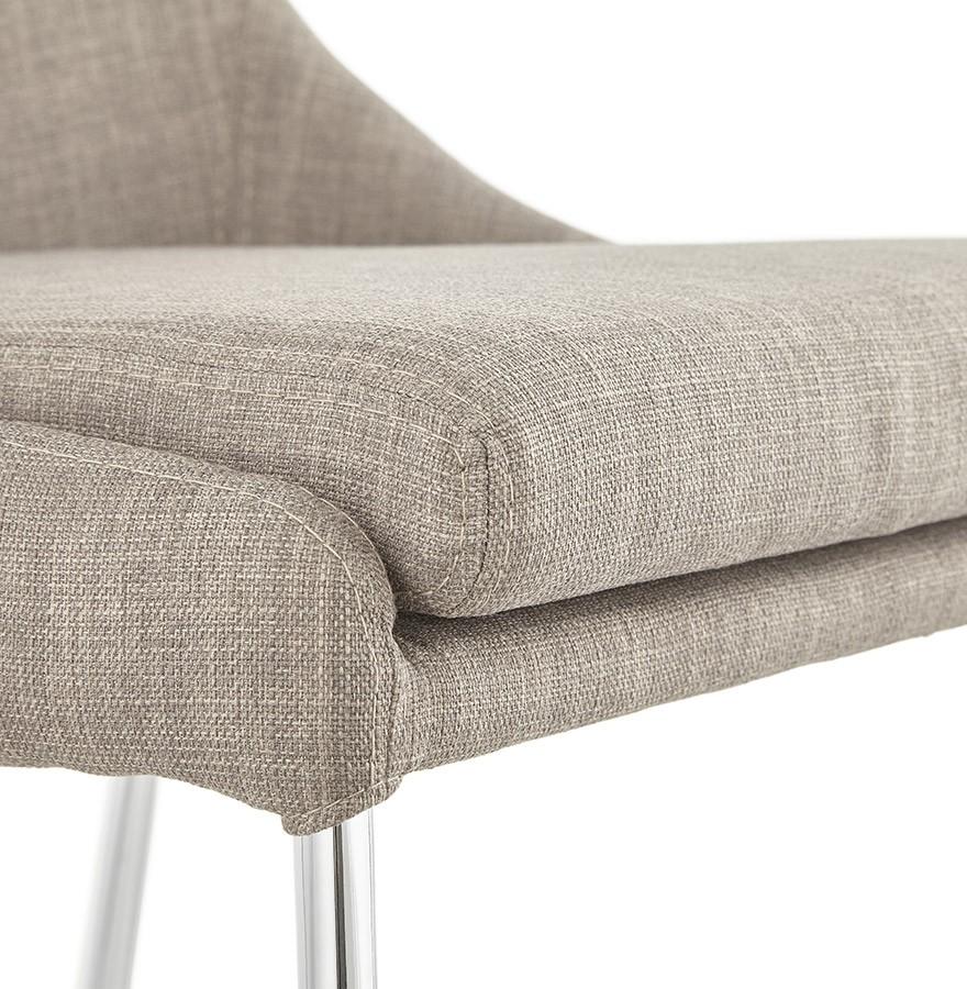 Chaise Design Laly En Tissu Gris