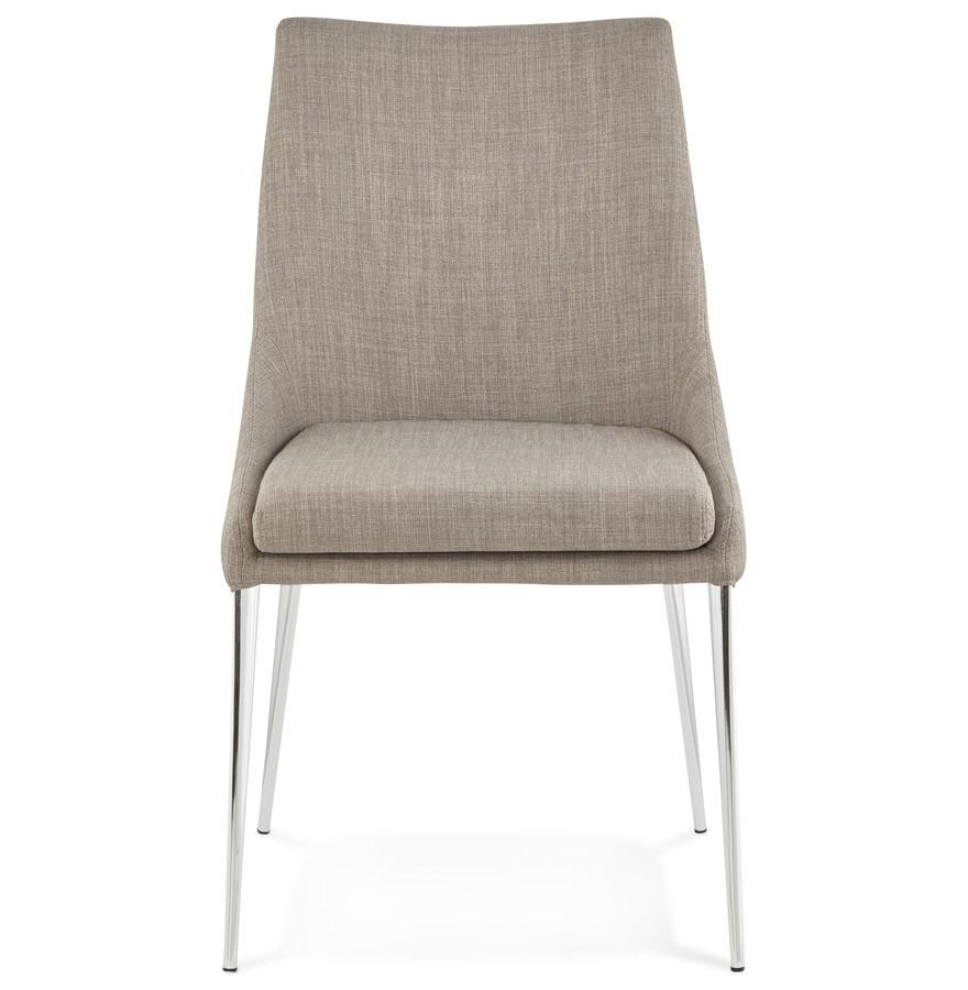 Chaise design laly en tissu gris - Chaises design grises ...