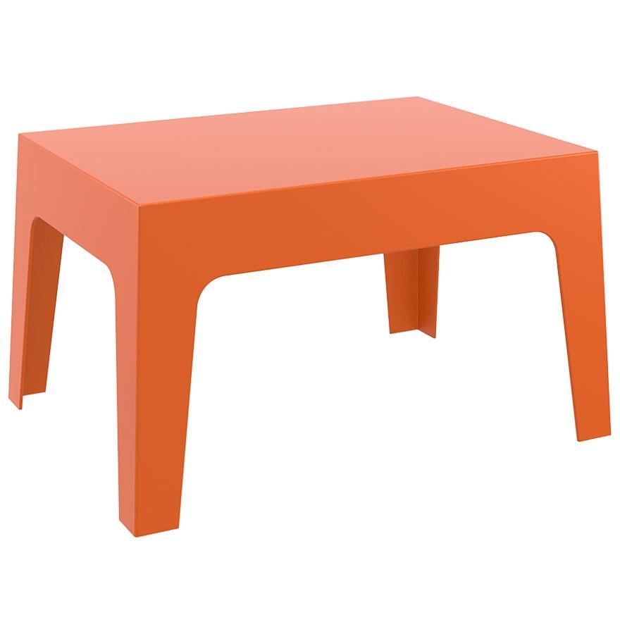 Table basse de jardin MARTO orange en matière plastique