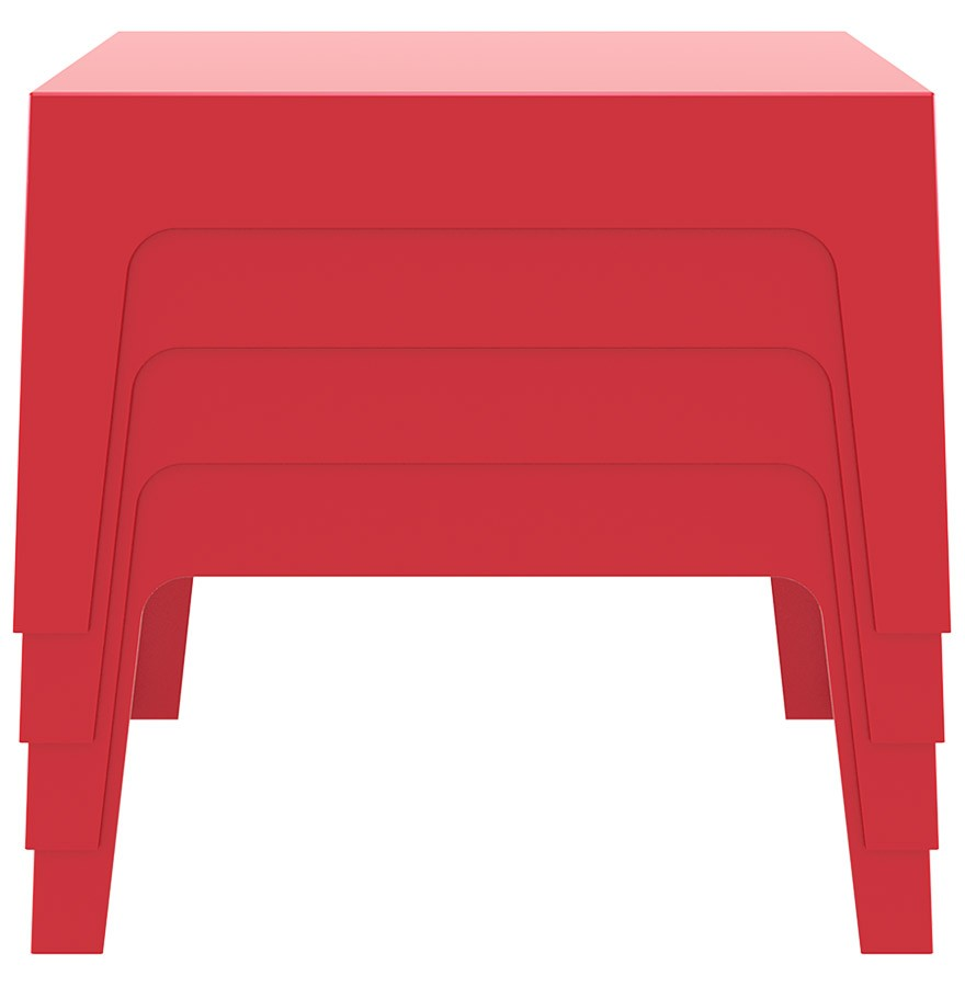 table design marto table basse de jardin rouge en mati re plastique. Black Bedroom Furniture Sets. Home Design Ideas
