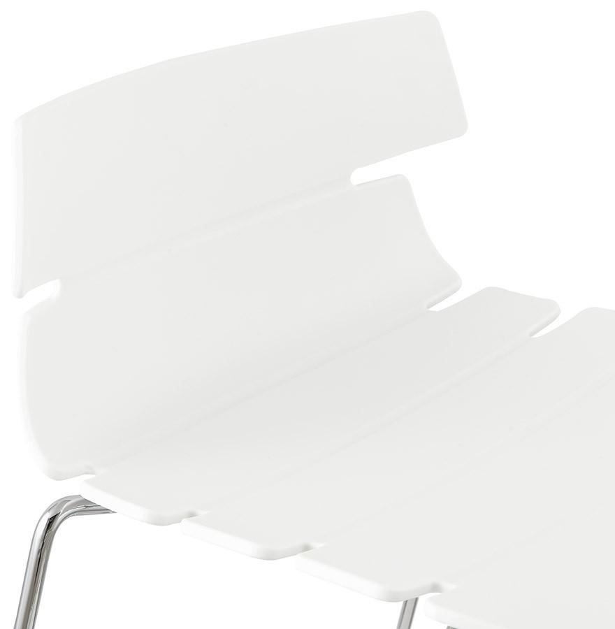 tabouret snack mary mini blanc moderne tabouret mi hauteur. Black Bedroom Furniture Sets. Home Design Ideas