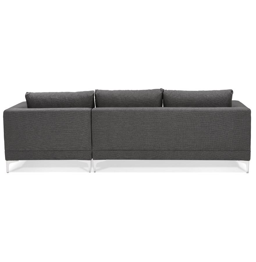 canap d 39 angle design melting gris fonc avec m ridienne droite. Black Bedroom Furniture Sets. Home Design Ideas