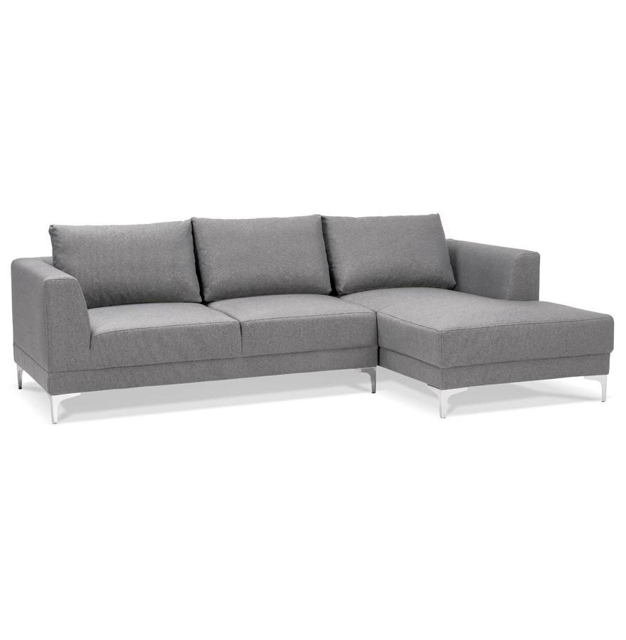 canap d 39 angle design melting gris clair avec m ridienne droite. Black Bedroom Furniture Sets. Home Design Ideas