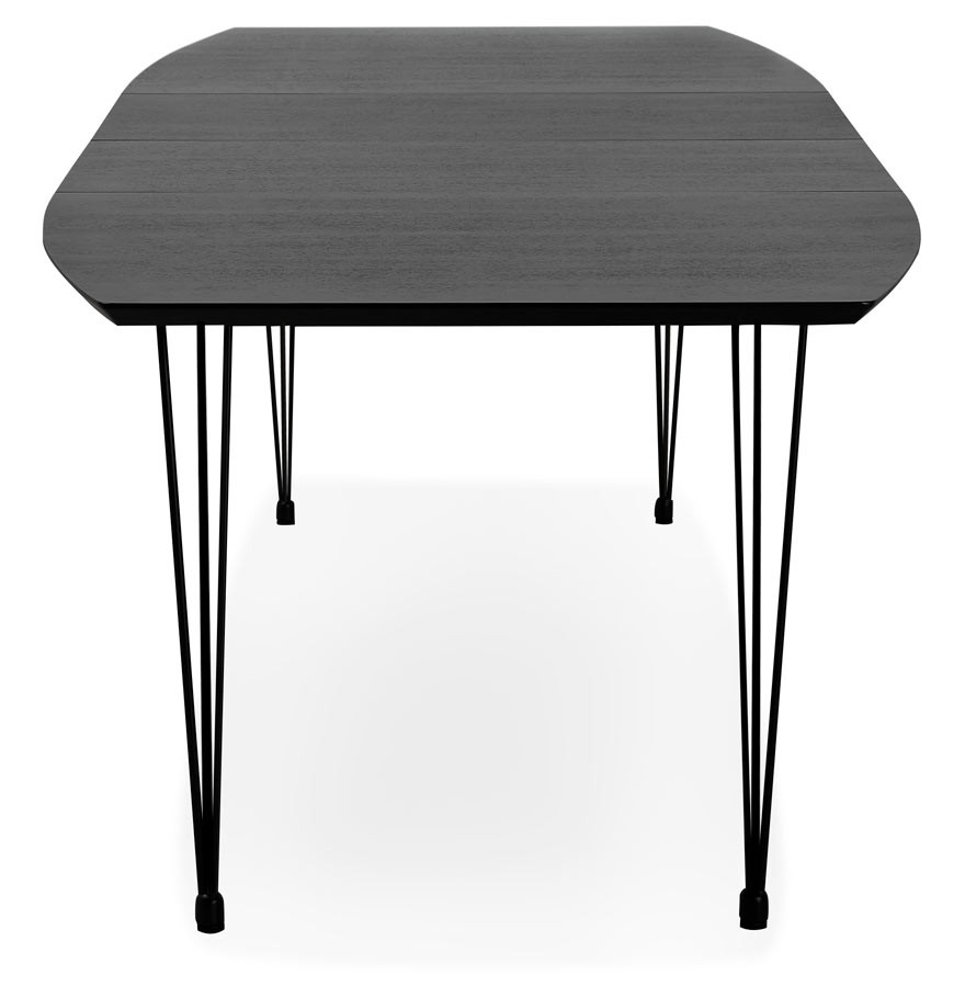 table d ner de r union extensible motus noire 170 270 x100 cm. Black Bedroom Furniture Sets. Home Design Ideas