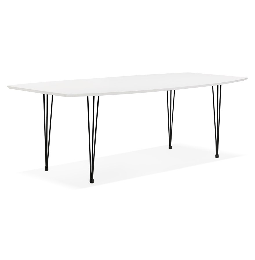 Table d ner extensible motus blanche 170 270 x100 cm for Table a diner extensible
