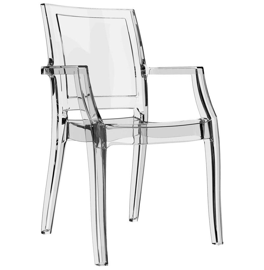 Chaise Design NALA Transparente En Matiere Plastique