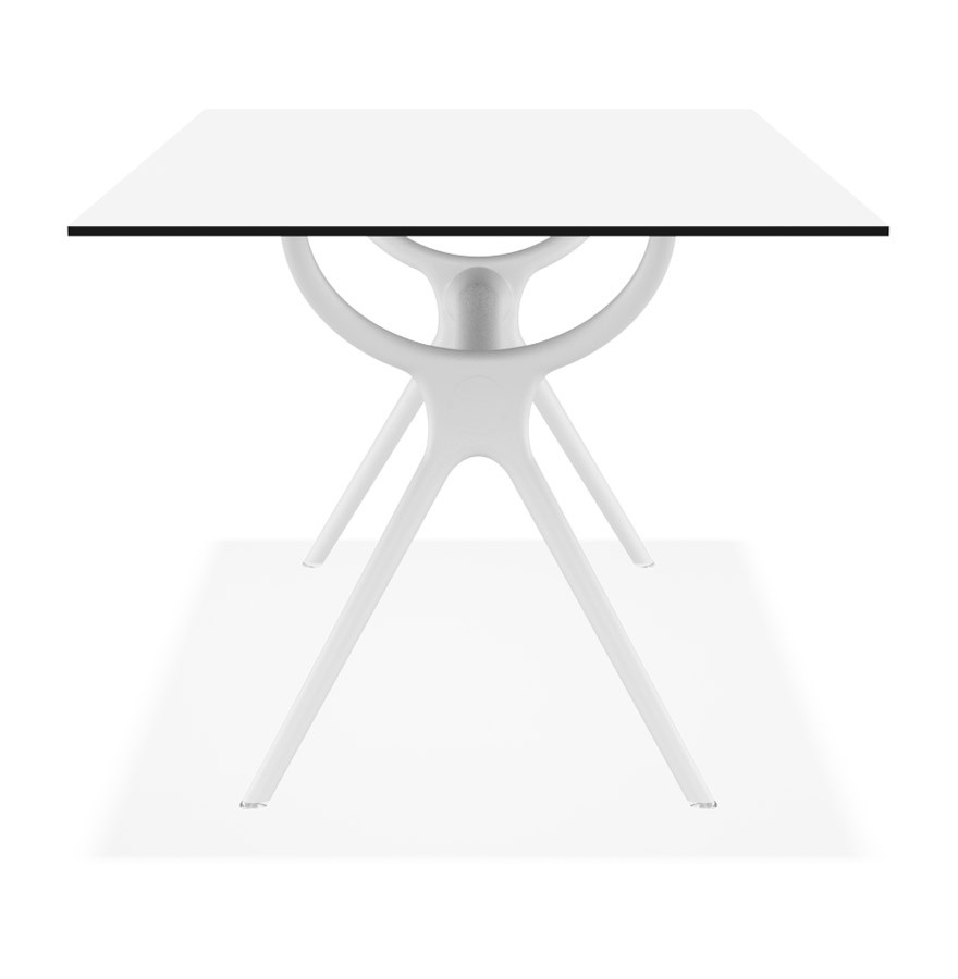 Table de jardin ocean design blanche 180x90 cm for Table d interieur