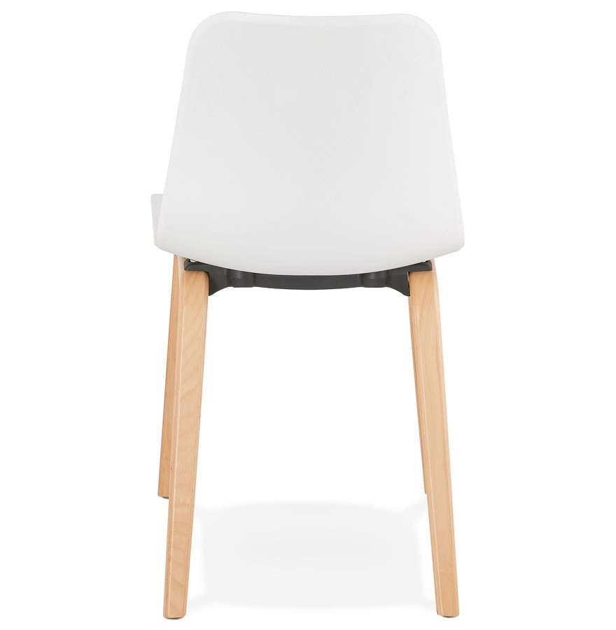 Chaise scandinave pacifik blanche chaise design for Chaise blanche avec pied bois