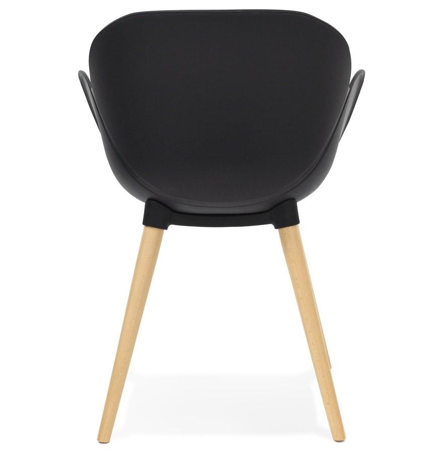 chaise design scandinave picata noire avec pieds en bois. Black Bedroom Furniture Sets. Home Design Ideas