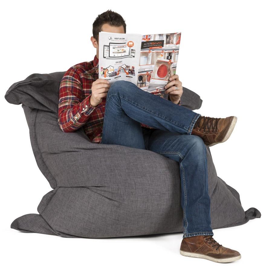 pouf poire gris affordable pouf poire relax coloris noir. Black Bedroom Furniture Sets. Home Design Ideas