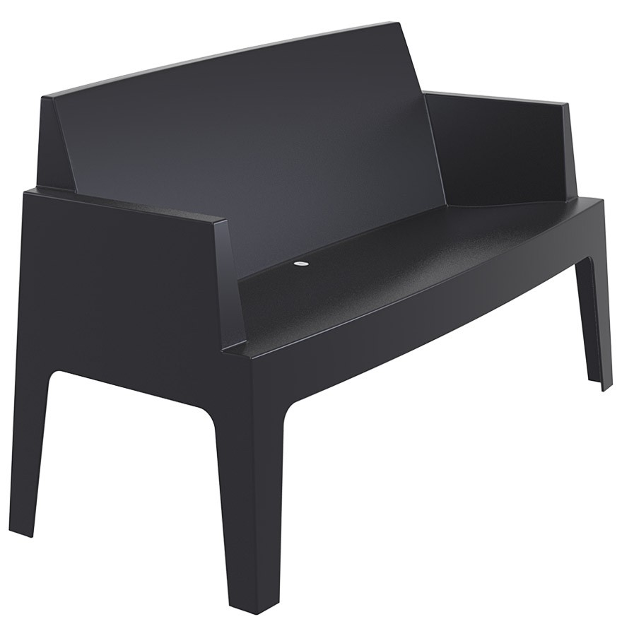 chaise design plemo xl banc de jardin noir en mati re plastique. Black Bedroom Furniture Sets. Home Design Ideas