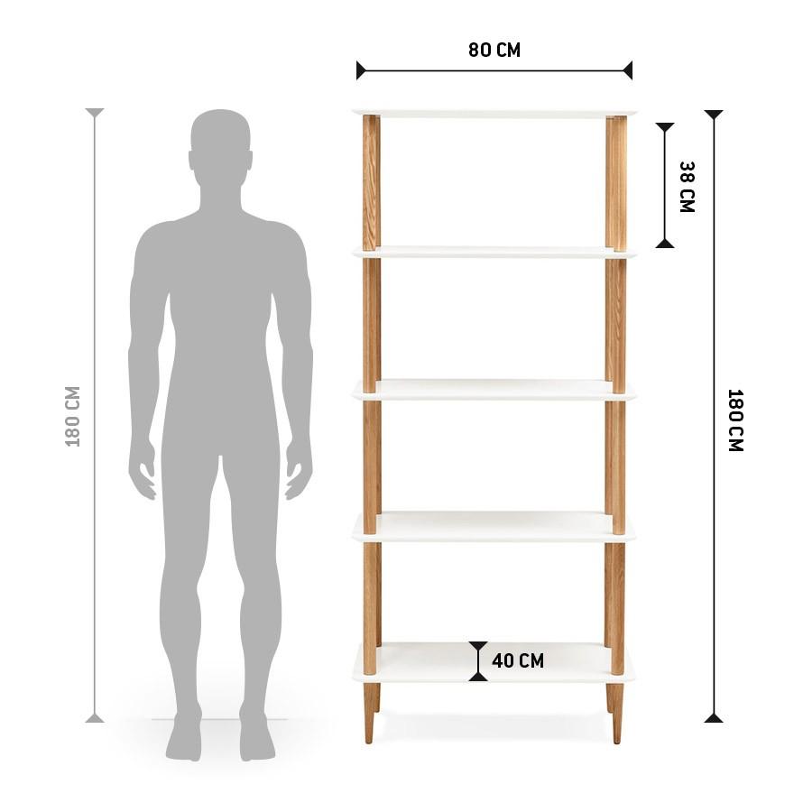 etag re design rack blanche en bois style scandinave. Black Bedroom Furniture Sets. Home Design Ideas