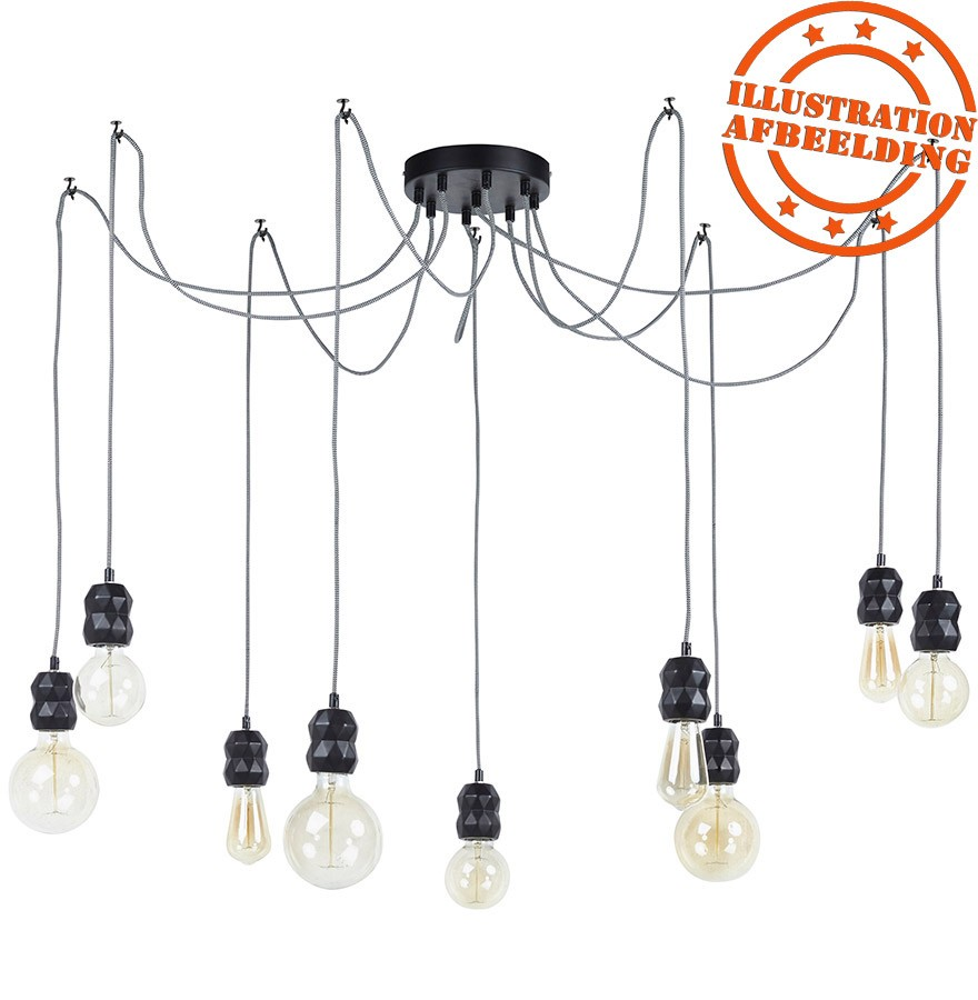 suspension araign e rainy 9 soquets lampe multiple. Black Bedroom Furniture Sets. Home Design Ideas