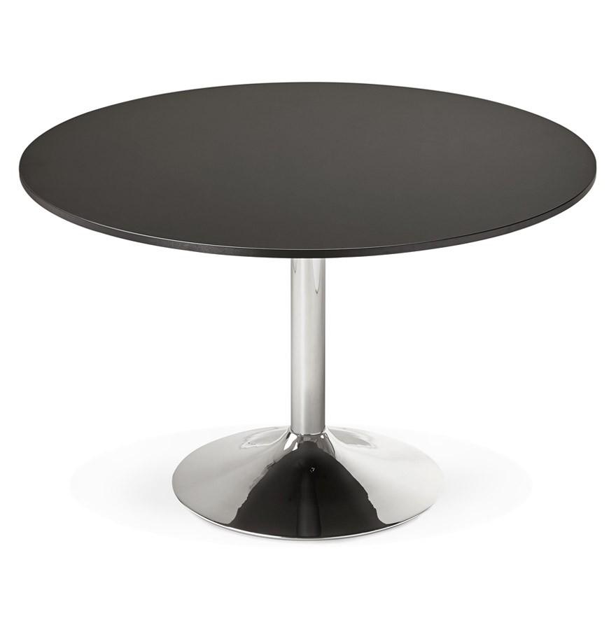 table de bureau ronde noire saopolo 120 cm table diner. Black Bedroom Furniture Sets. Home Design Ideas