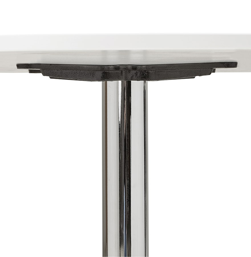 Table de bureau ronde blanche saopolo 90 cm table diner for Table de bureau blanche