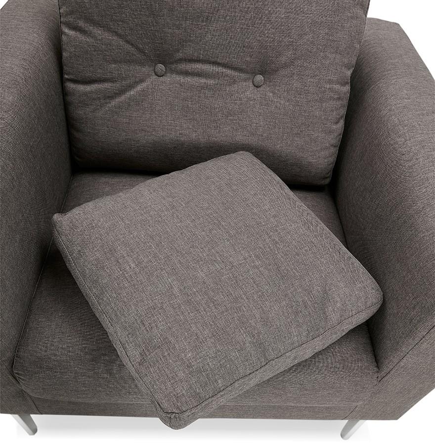 Fauteuil de salon 1 place SIXTY MINI en tissu gris très moderne