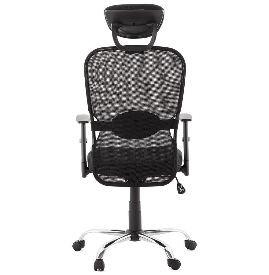 fauteuil de bureau design soyouz en tissu noir. Black Bedroom Furniture Sets. Home Design Ideas