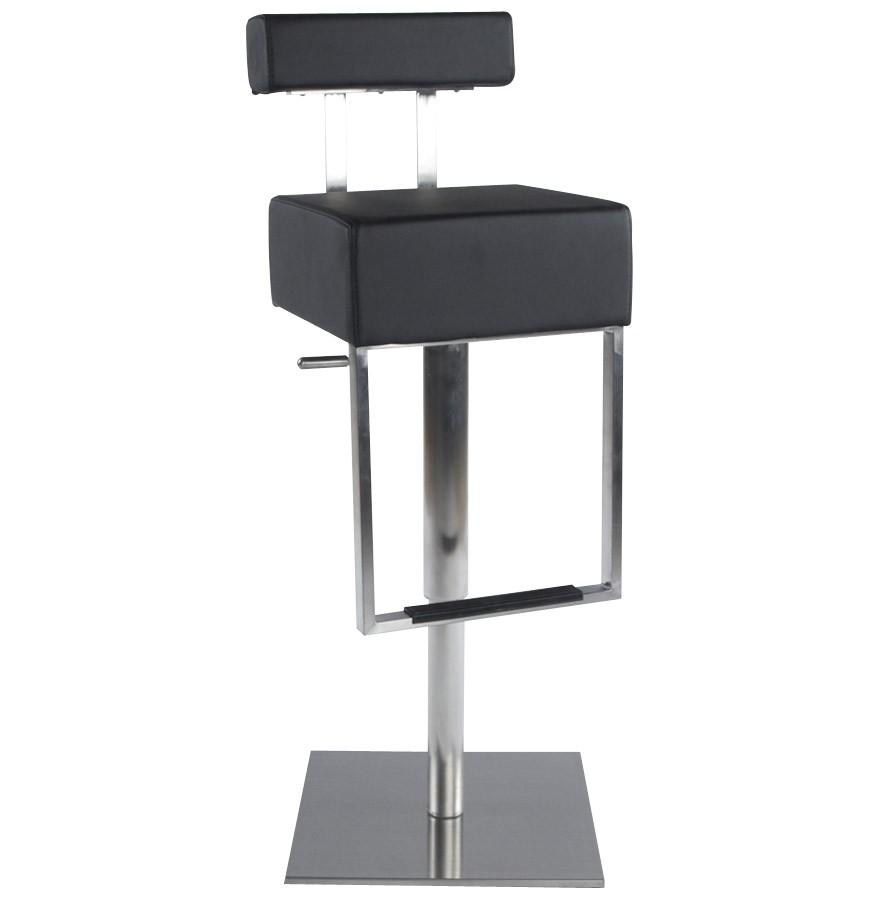 tabouret de bar spoon noir avec dossier tabouret design. Black Bedroom Furniture Sets. Home Design Ideas