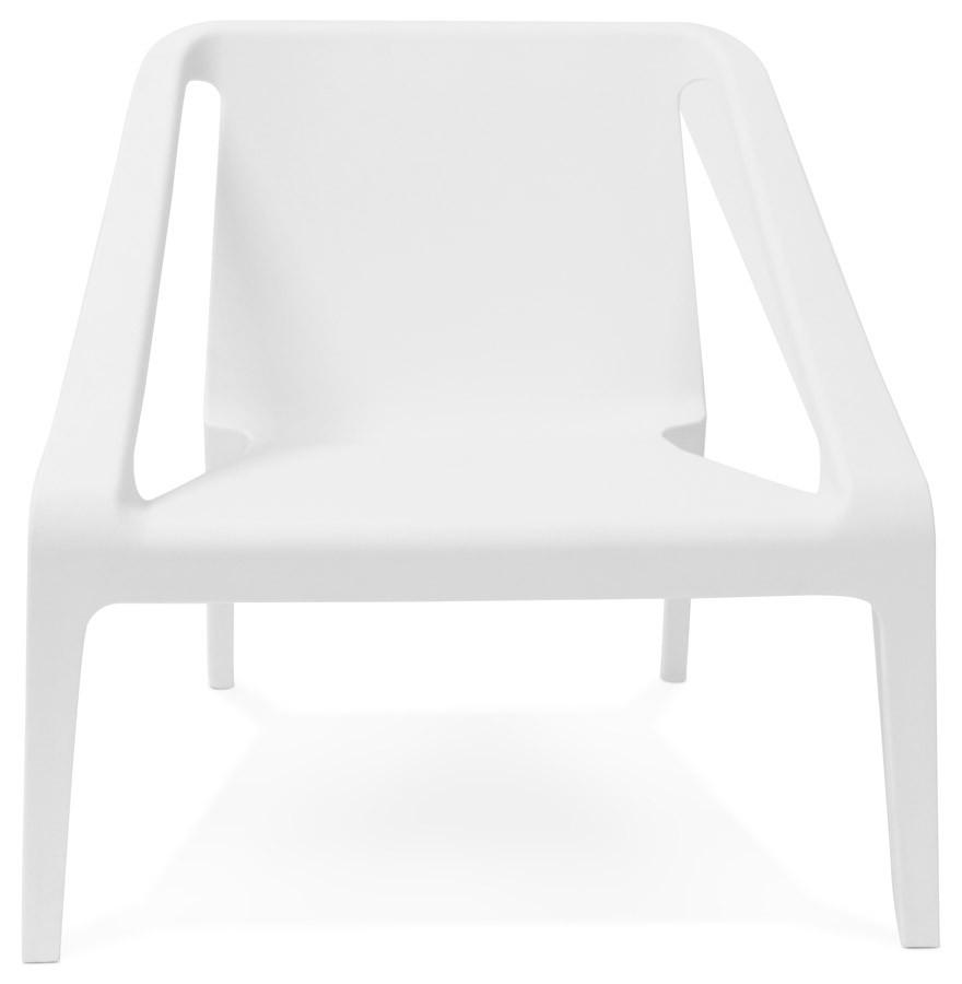 fauteuil lounge de jardin sunny blanc en mati re plastique. Black Bedroom Furniture Sets. Home Design Ideas