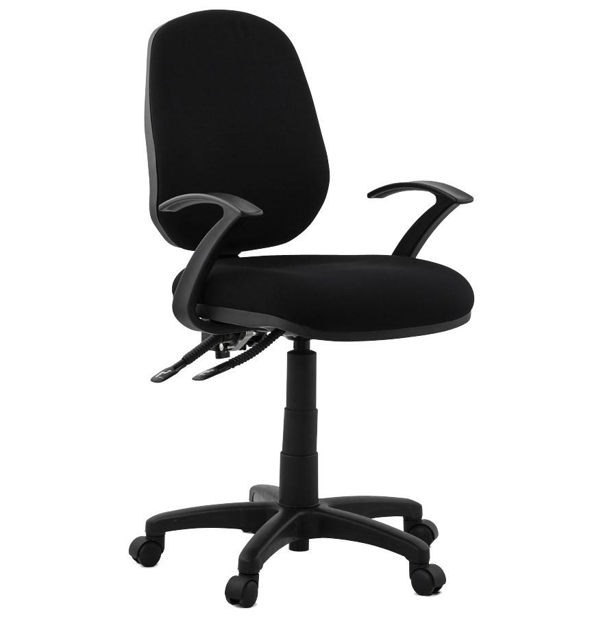 si ge de bureau tipi en tissu noir fauteuil de bureau design. Black Bedroom Furniture Sets. Home Design Ideas