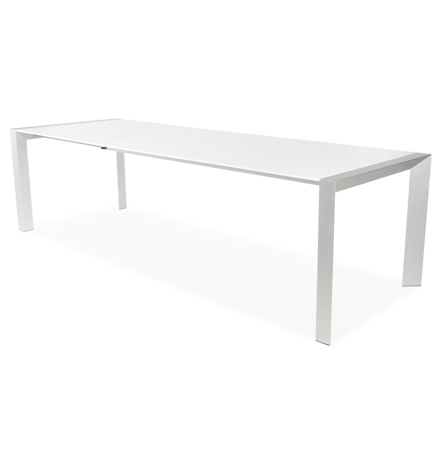 Table d ner extensible titan blanche table design de r union - Table design extensible ...