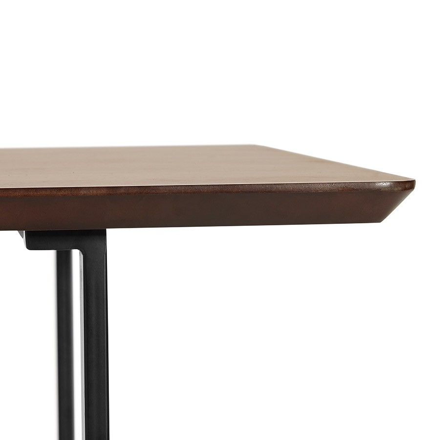 Table design titus en bois de noyer bureau moderne 150x70 cm for Table de bureau design