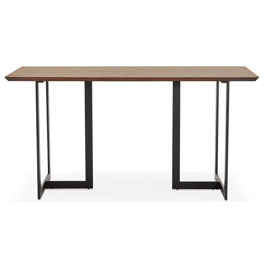 Table design titus en bois de noyer bureau moderne 150x70 cm for Table bureau design