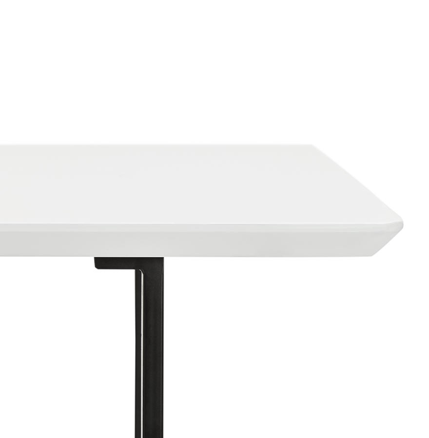 table design titus en bois blanc bureau moderne 150x70 cm. Black Bedroom Furniture Sets. Home Design Ideas