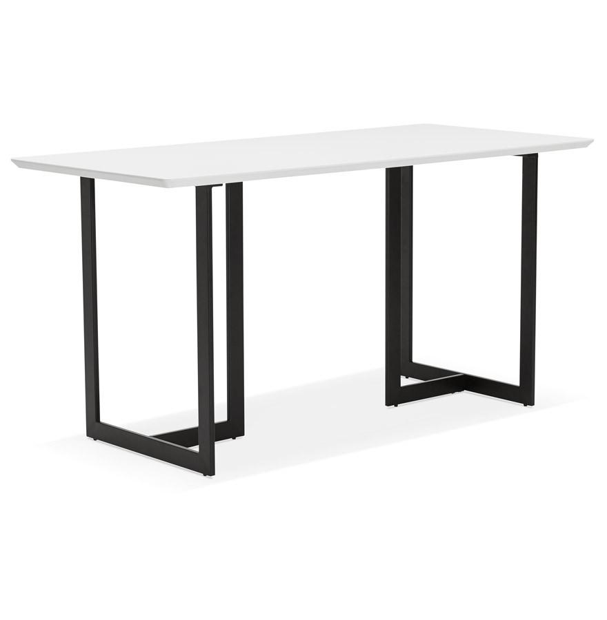 table design titus en bois blanc bureau moderne 150x70 cm. Black Bedroom Furniture Sets. Home Design Ideas
