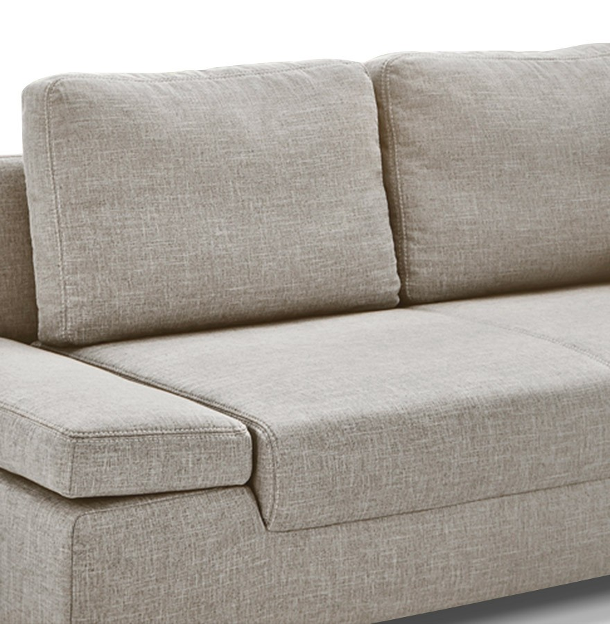 canap lit convertible waza en tissu chenille beige. Black Bedroom Furniture Sets. Home Design Ideas