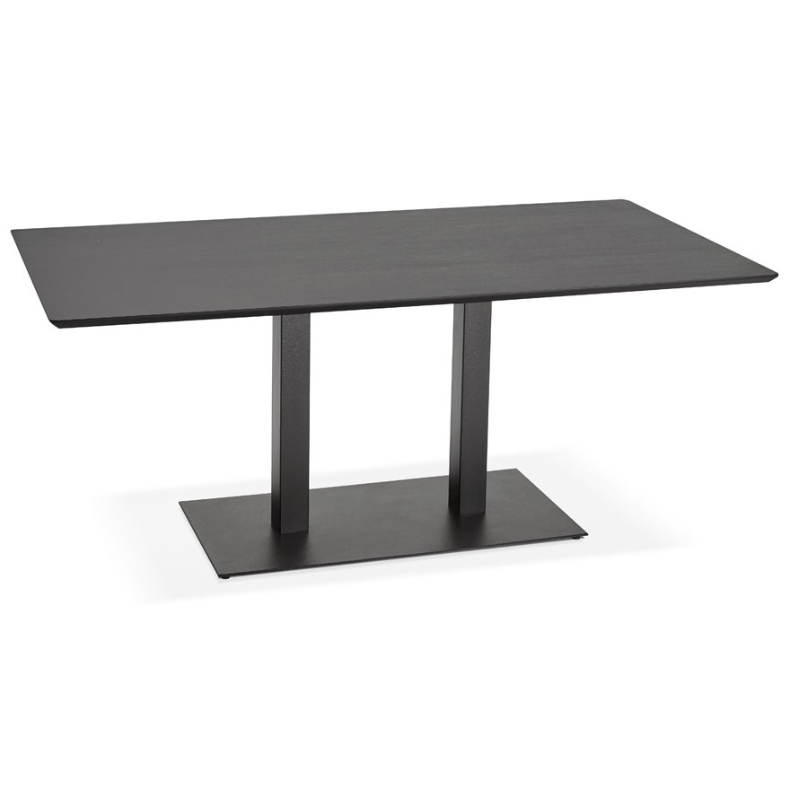 table de r union zumba noir 180x90 cm bureau design. Black Bedroom Furniture Sets. Home Design Ideas