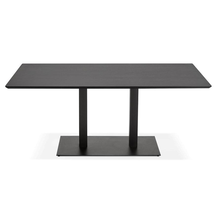 Table de r union zumba noir 180x90 cm bureau design for Table bureau design