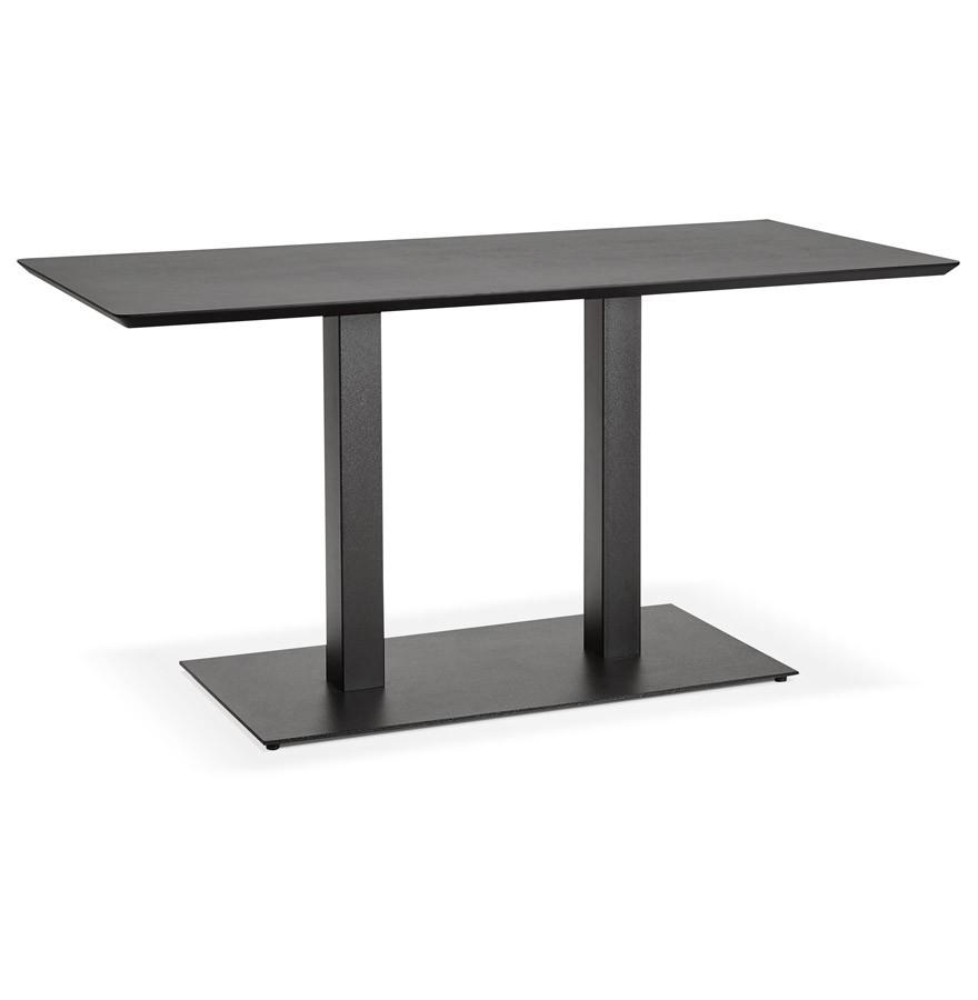 Table de r union zumba noir 150x70 cm bureau design for Table bureau design