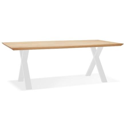 Eettafel 'ALEXANDRA' van eikenhout met witte poten - 200x100 cm