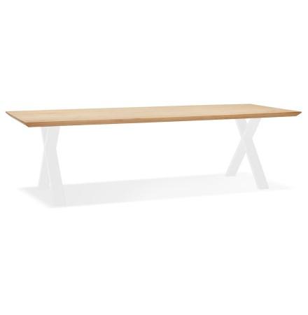 Eettafel 'ALEXANDRA' van eikenhout met witte poten - 300x100 cm