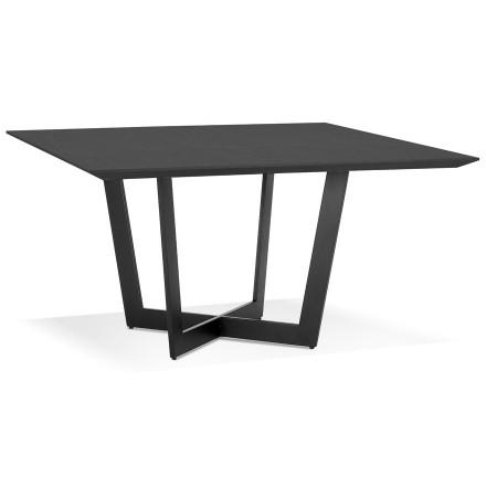 Vierkante eettafel 'ANITA' van hout en zwart metaal - 140x140 cm