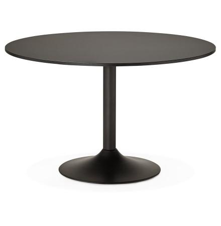Ronde, zwarte bureau-/eettafel 'ATLANTA' - Ø 120 cm