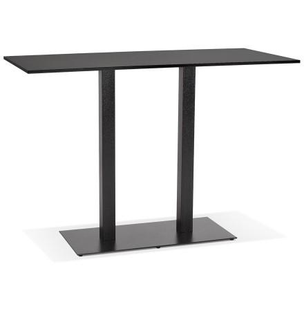 Zwarte design statafel 'AUSTIN BAR' met zwarte metalen poot - 160x80 cm