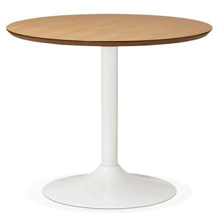 Kleine ronde bureautafel / eettafel 'BARABAR' met natuurlijk houten afwerking - Ø 90 cm