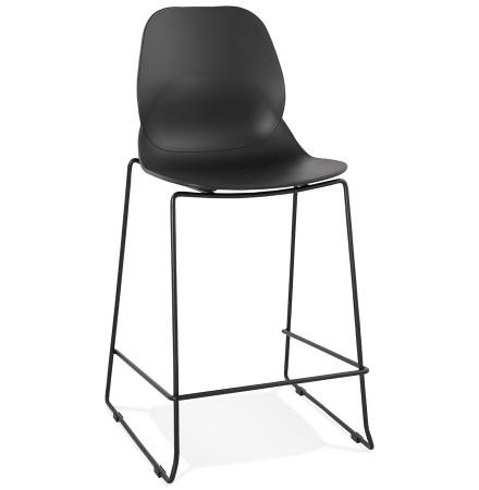Moderne halfhoge kruk 'BERLIN MINI' zwart stapelbaar