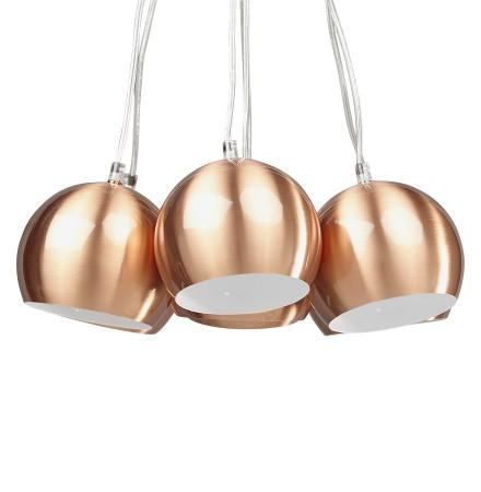 Design hanglamp BILBO met 7 koperkleurige bollen - Alterego