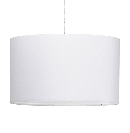 Ronde hanglamp 'BUNGEE' met witte lampenkap