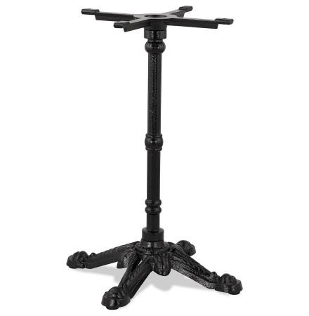 Zwarte metalen tafelpoot 'CABARET' 75 in rustieke stijl