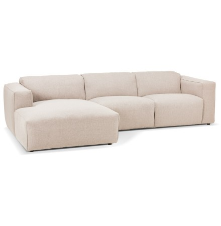 Kleine design hoekcanapé 'CANYON L SHAPE MEDIUM' beige (hoek links)