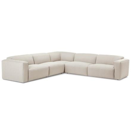 Grand canapé d'angle symétrique 'CANYON CORNER' en tissu beige